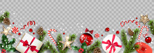 Isolated Winter Christmas Holiday Banner