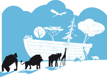 Noah's Ark Vector Illustration...