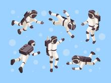 Astronaut Isometric. Cosmo Spa...