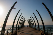 The Unique Whalebone Pier Structure At Umhlanga