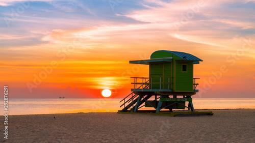 Keuken foto achterwand Ochtendgloren Miami South Beach at sunrise