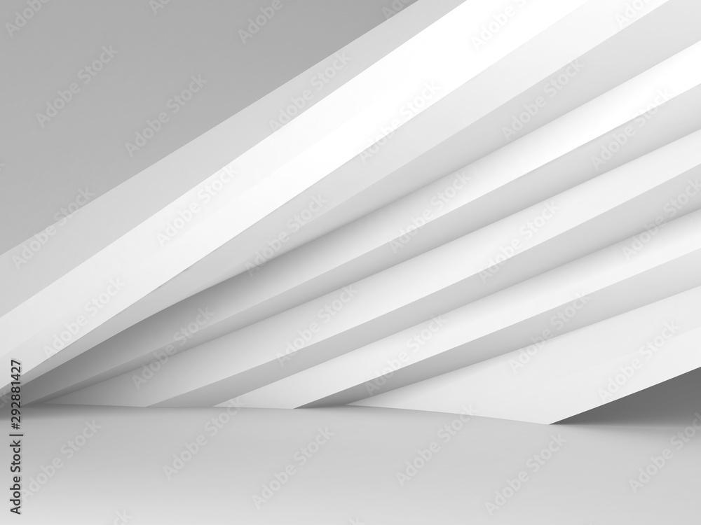 Fototapeta 3d white interior with installation