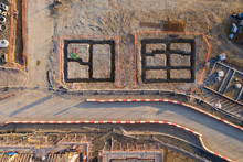 Aerial View Over A Constructio...