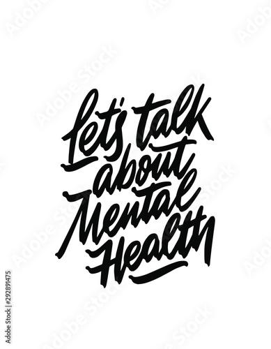 Fotomural Let's talk about mental health