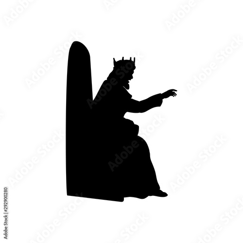 Fotografie, Obraz King gives the decree. King Herod Nativity. Vector illustration