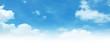 Leinwandbild Motiv Empty white cloud on blue sky