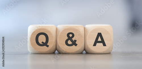 Q & A, questions and answers Wallpaper Mural
