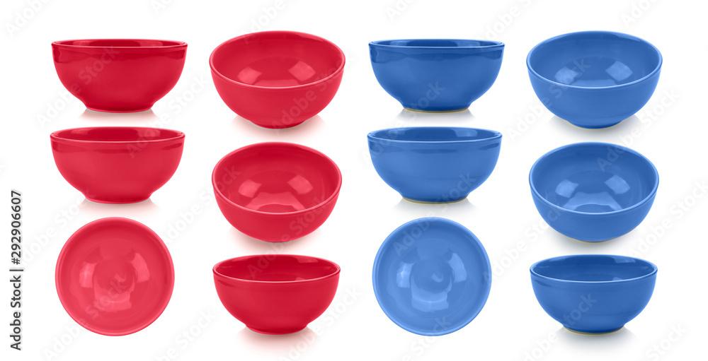 Fototapety, obrazy: blue bowl on white background