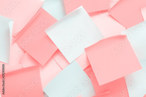 Fotografie, Obraz  Set of colored sheets of paper for notes with curled corners