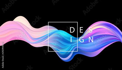 Fototapeta Abstract colorful vector background, color flow liquid wave for design brochure, website, flyer