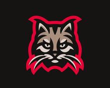 Lynx Modern Logo. Bobcat Design Emblem Template For A Sport And ESport Team.