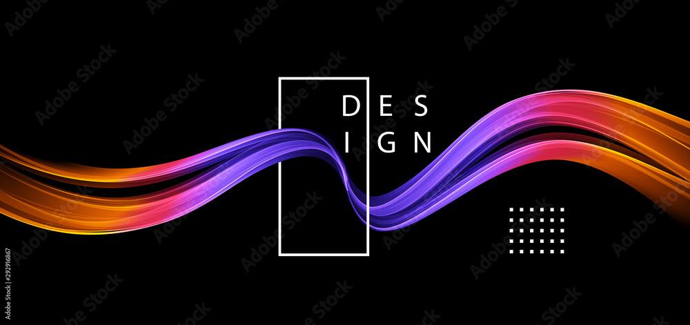 Fototapeta Abstract colorful vector background, color flow liquid wave for design brochure, website, flyer.