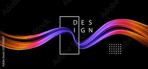 Abstract colorful vector background, color flow liquid wave for design brochure, website, flyer Fototapet