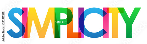 Leinwand Poster SIMPLICITY colorful vector typography banner