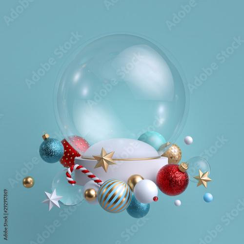 Stampa su Tela 3d Christmas background