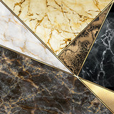 abstract art deco background, minimalist geometric pattern, modern mosaic inlay, texture of marble agate and gold, artistic artificial stone design, marbled tile, minimal fashion marbling illustration - 292920065