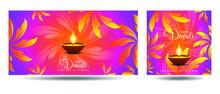 Set Of Banner Diwali, Deepaval...