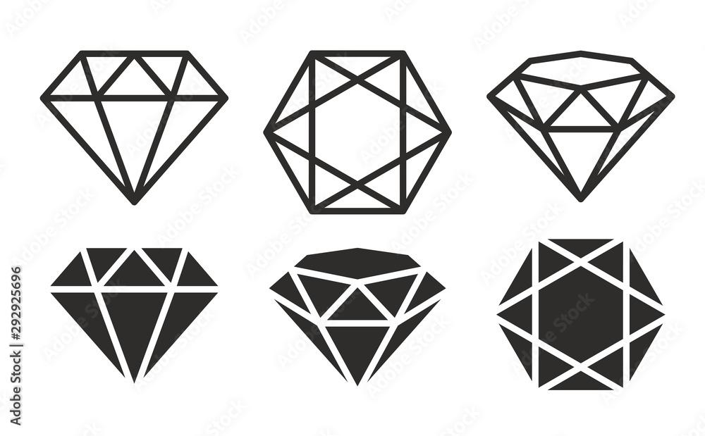 Fototapeta Diamond Icon set
