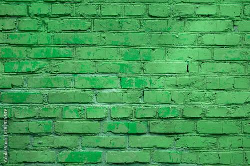 Recess Fitting Brick wall Light green block brick wall for background