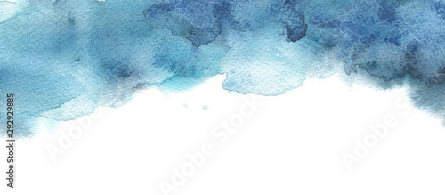 Abstract watercolor and ink blot painted background.