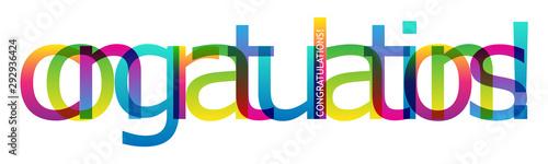 CONGRATULATIONS! bright gradient typography banner Canvas Print