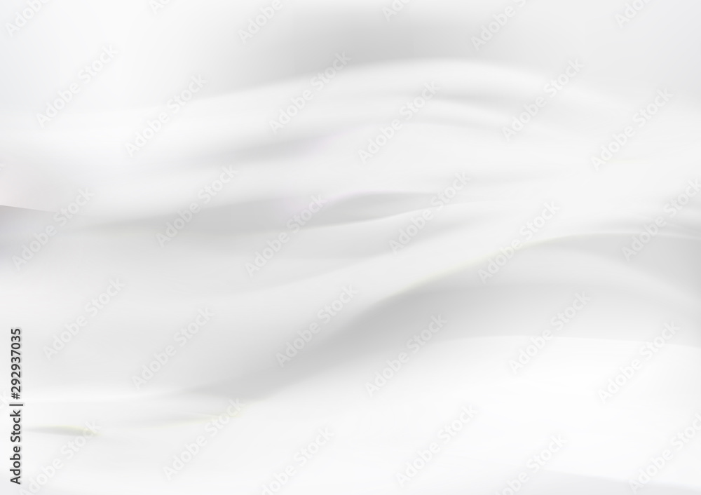 Fototapety, obrazy: White abstract background, wave motion, wind concept vector illustration