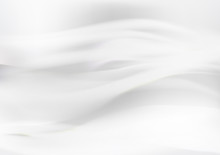 White Abstract Background, Wave Motion, Wind Concept Vector Illustration