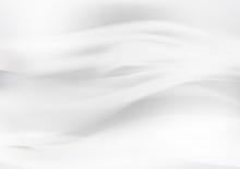 White Abstract Background, Wav...