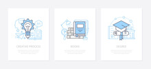 Creative Process, Innovative Thinking Concept Icons Set