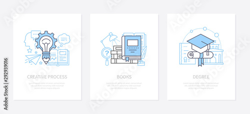 Fotografiet  Creative process, innovative thinking concept icons set