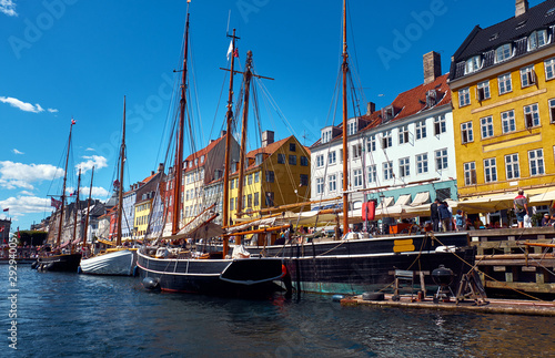 Acrylic Prints North Sea Beautiful old ships on the Nyhavn canal. Copenhagen.