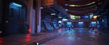 Urban City Retro Futuristic Ba...