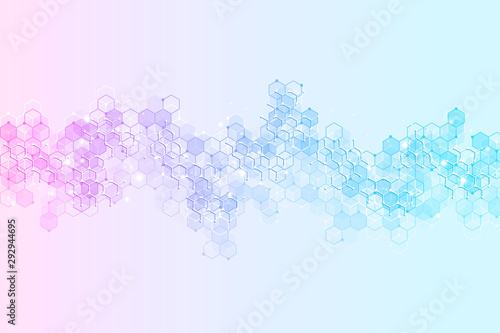 Cuadros en Lienzo  Abstract medical background and science concept background