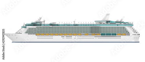 Obraz na płótnie Cruise Ship Isolated