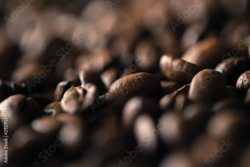 roasted coffee beans, food concept background