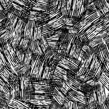 Seamless Pattern Hand Drawn Wi...
