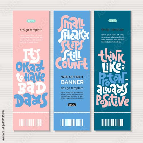 Poster Positive Typography Progress motivation lettering
