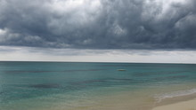 Jamaican Storm Coming In Across The Sea