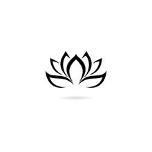 Lotus Icon Isolated On White B...