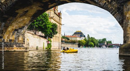 Fotografia Charles Bridge Prague in Czech Republic.