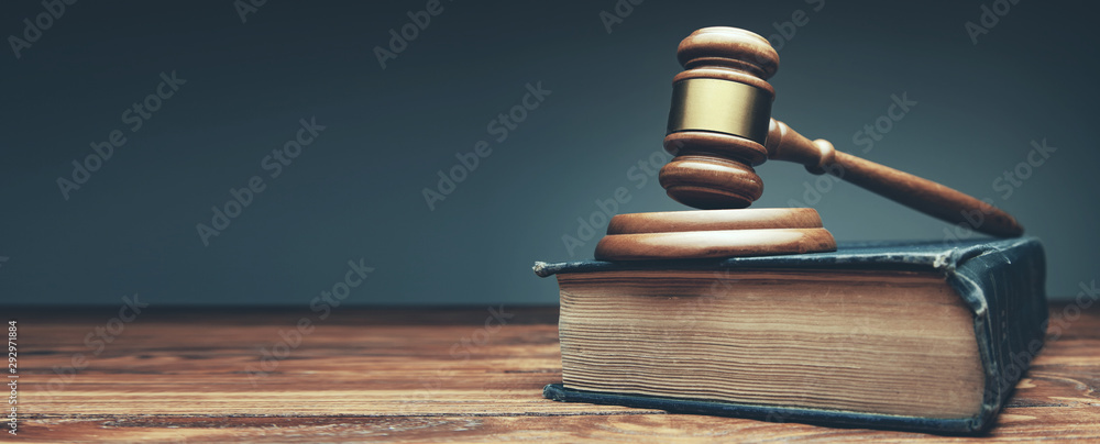 Fototapety, obrazy: judge on book