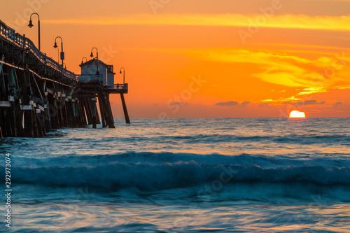 Fotografía  Orange Sunset at San Clementa Pier