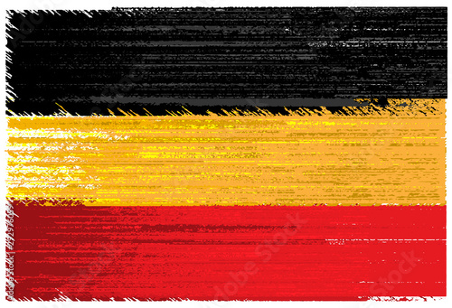 Germany vector grunge flag isolated on white background Canvas Print