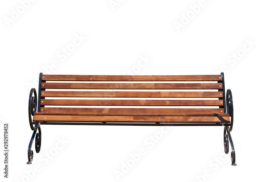 Obraz Park bench isolated - fototapety do salonu