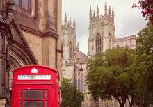 Old British Red Phone Booth Wi...
