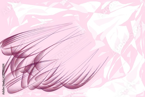 Fototapety, obrazy: Illustration of textured pink lines.