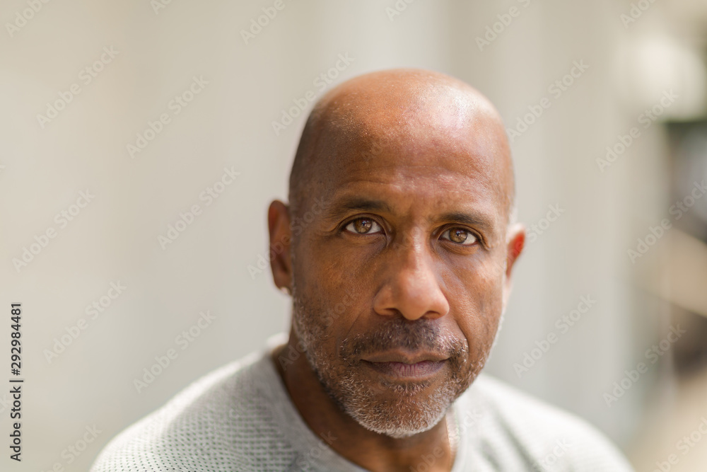 Fototapeta African American man with a concerned look.