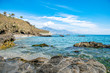 a photograph taken on one of the many beautiful beaches along the Costa Del Sol in Spain