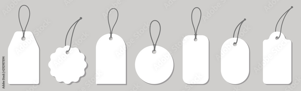 Fototapeta Price tag collection. Paper labels set. Vector