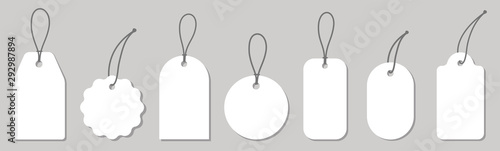 Stampa su Tela Price tag collection. Paper labels set. Vector